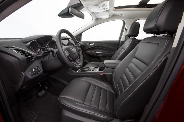 Interior view of the 2017 Ford Escape