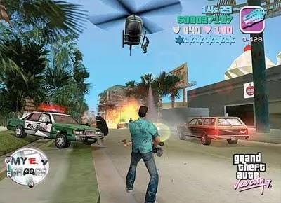 تحميل لعبة جاتا 7 GTA Vice City للكمبيوتر برابط واحد من ماى ايجى