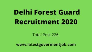 delhi-forest-guard, latest-govt-jobs,