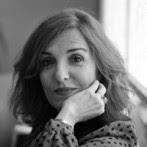 Foto de Elvira Lindo en blanco y negro