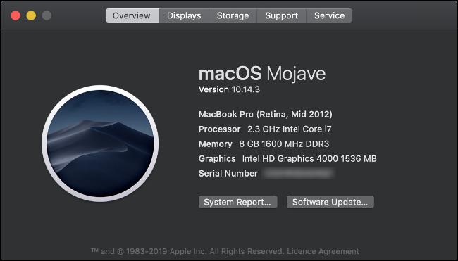حول نظرة عامة على Mac لنظام MacBook Pro لعام 2012.