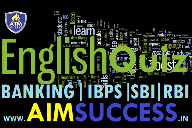English MCQ for SBI Clerk & Banking Exams