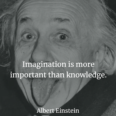 Albert Einstein Inspirational Quote about imagination