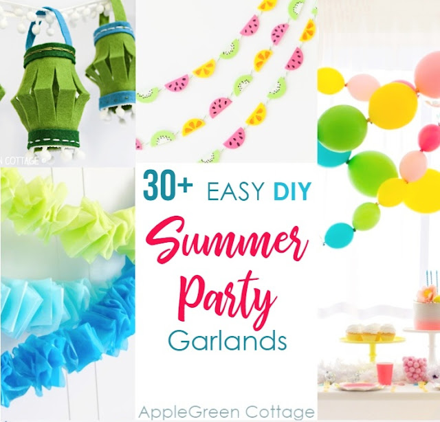 30 Diy Party Decorations Garlands Applegreen Cottage