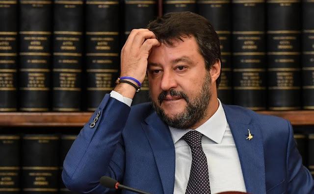 نقل ماتيو سالفيني وزير الداخلية الإيطالي الشهير الى المستشفى بعد وعكة صحية مفاجئة ويطمئن