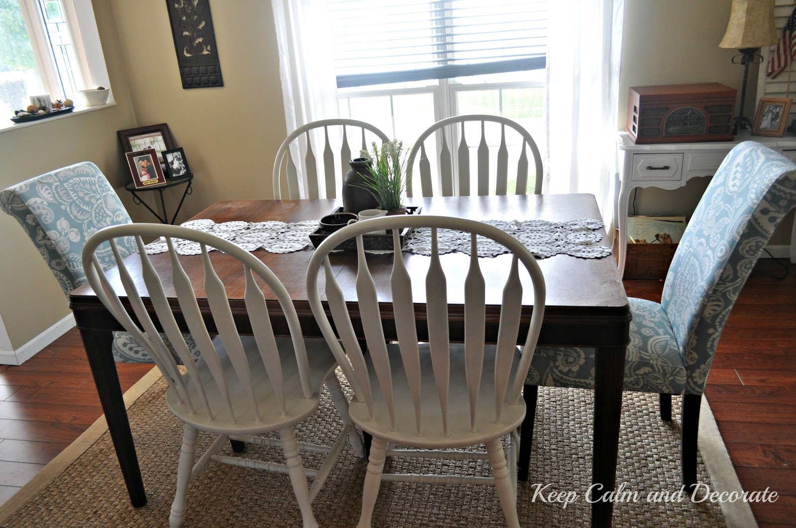 Keep calm and decorate updating dining room chairs for Different dining room styles