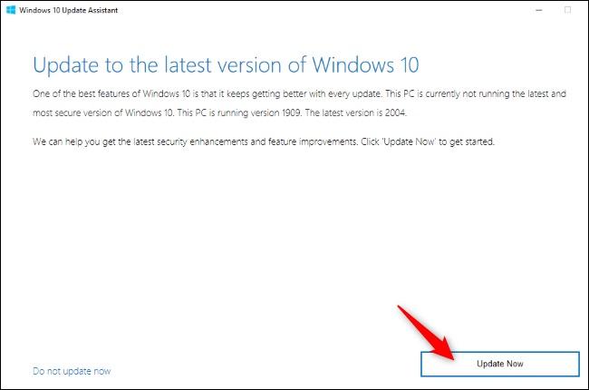 Windows 10 Update Assistant untuk May 2020 Update