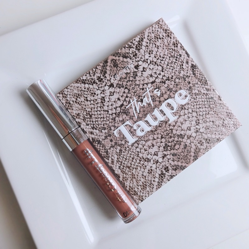ColourPop That's Taupe Shadow Palette swatches review