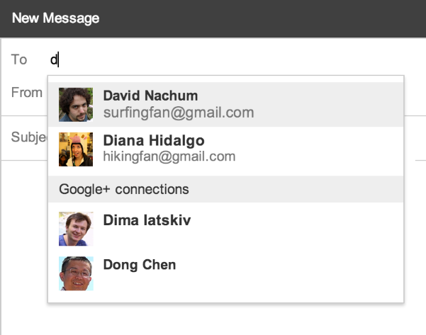 Send emails to your Google+ connections.