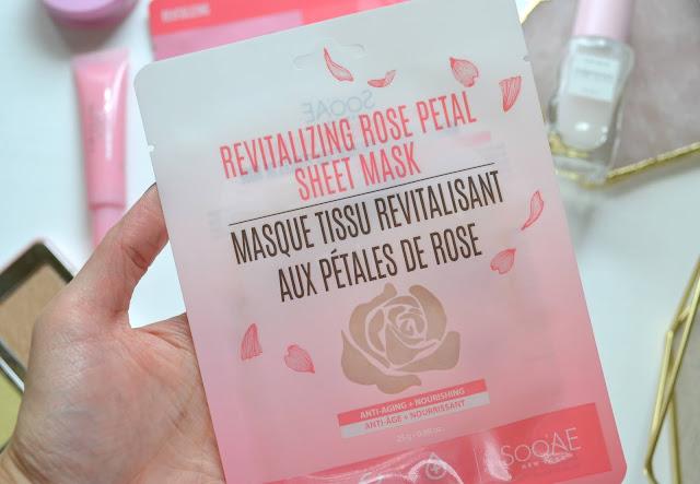 sooae revitalizing rose petal sheet mask