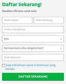 Formulir Pendaftaran GrabBike Banjarnegara