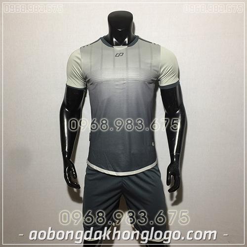 Áo bóng đá ko logo CP Combat màu xám