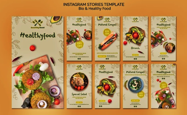 template ig story for food anda drink