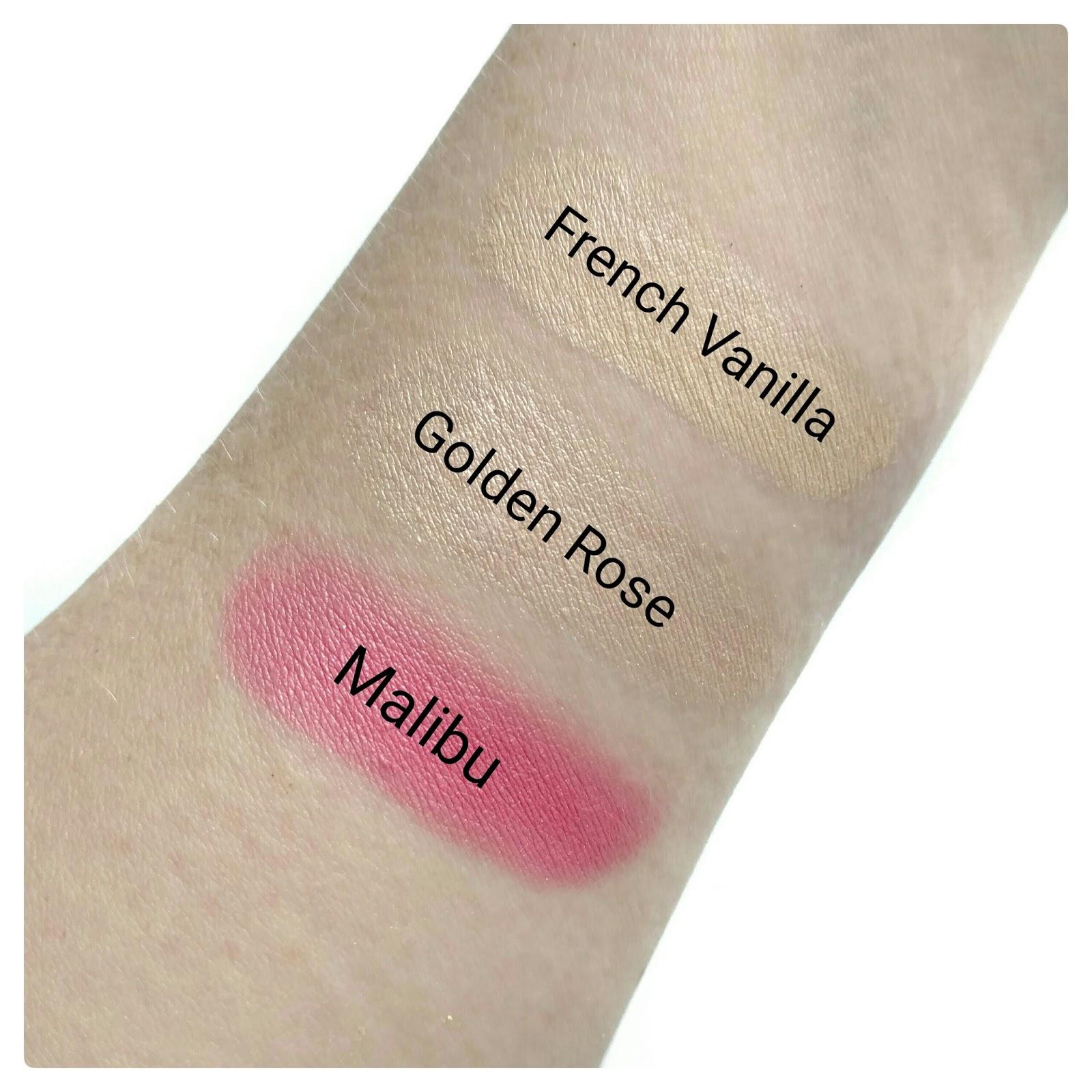 laura geller french vanilla highlighter swatches