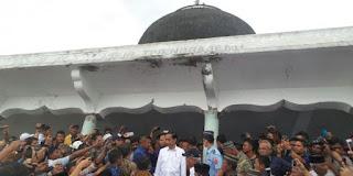Jokowi: Mulai Besok, Masjid At Taarrub Dibersihkan dan Dibangun Kembali