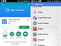 Cara menyembunyikan aplikasi Android menggunakan Apex Launcher