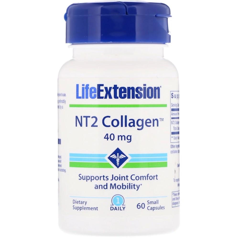 Life Extension, NT2 Коллаген, 40 мг, 60 маленьких капсул