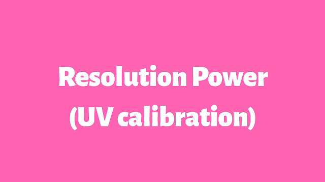 Calibration of by UV Resolution power Toluene