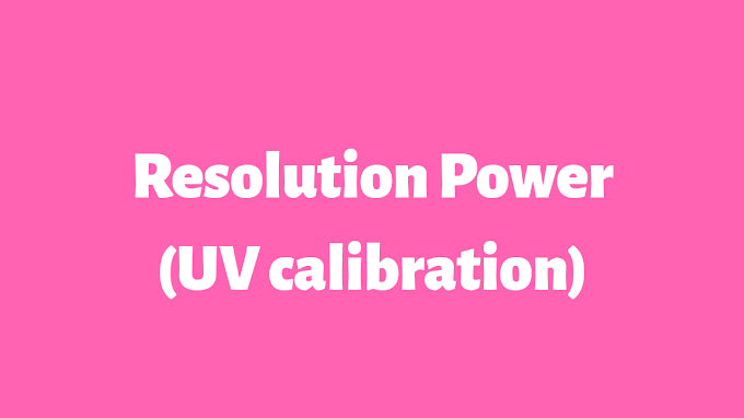 RESOLUTION POWER (UV calibration)