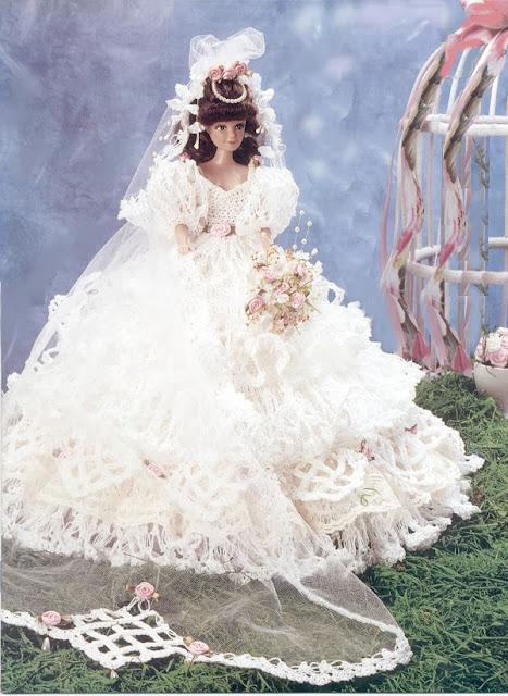 Vestidos de noiva para Barbie - Bridal dresses for barbie dolls - Para inspirar nossas criações 13