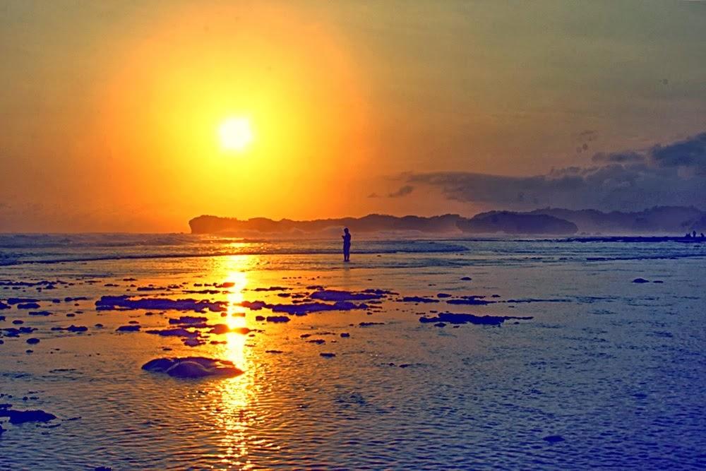 Gambar Sunset Pantai Indrayanti Yogyakarta