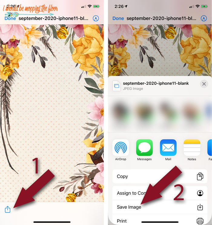 How to install wallpaper on an iPhone.