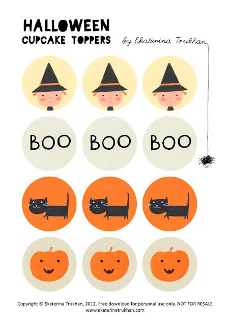 Halloween printable toppers!
