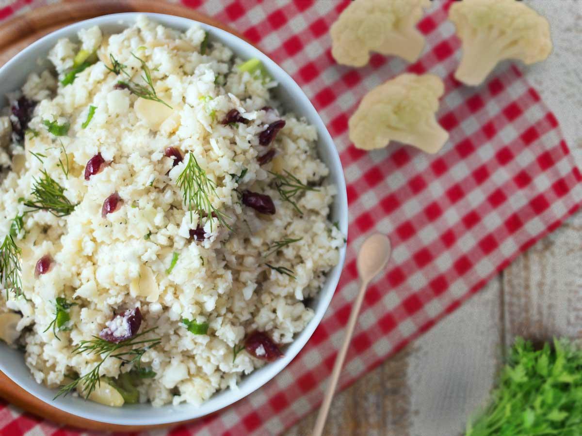 Vegan Cauliflower Rice for Easter Dinner