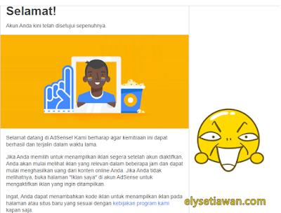 diterima google adsense blog mas ely