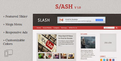 Slash - Tech/ Magazine Blogger Template