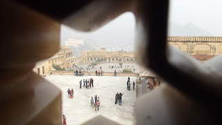 architecture of amer fort
