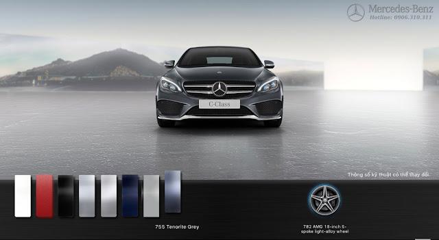 Mercedes C300 AMG 2017 là một chiếc sedan 5 chỗ ngồi cực kỳ rộng rãi và thoải mái