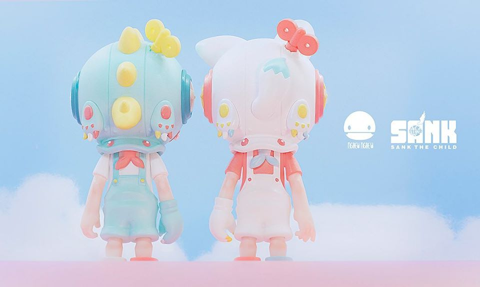 Little Sank Cute Spectrum Series Neon Green GID by Sank Toys In Stock Collection