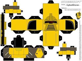 Descargar el cubeecraft del Cylon Comandante Oro de la serie Battlestar Galactica