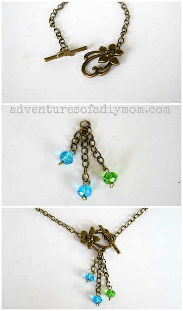 how to make a flower clasp necklace