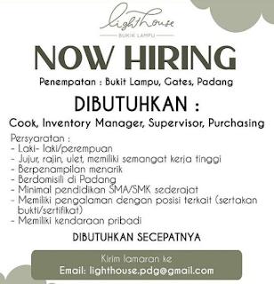 Lowongan Kerja Padang September 2021