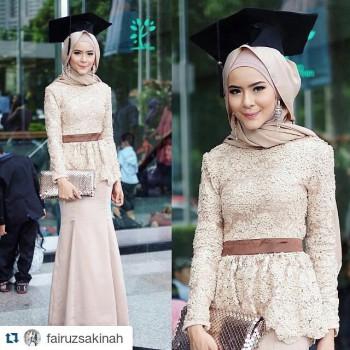 Model Gaun Pesta Brokat Muslim Terbaru