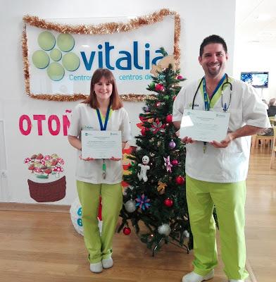 Jorge López y Mercedes Naharro, Médico y Terapeuta Ocupacional de Vitalia Alcalá de Henares, ganan el Premio Vitalia 2017 a los Mejores Profesionales en su categoría