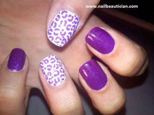 hot purple nail art