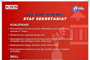 Lowongan Kerja Staf Sekretariat KSS Properti Bandung