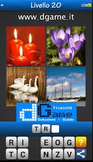 Trova la Parola - Foto Quiz con 4 Immagini e 1 Parola pacchetto 1 soluzione livello 20