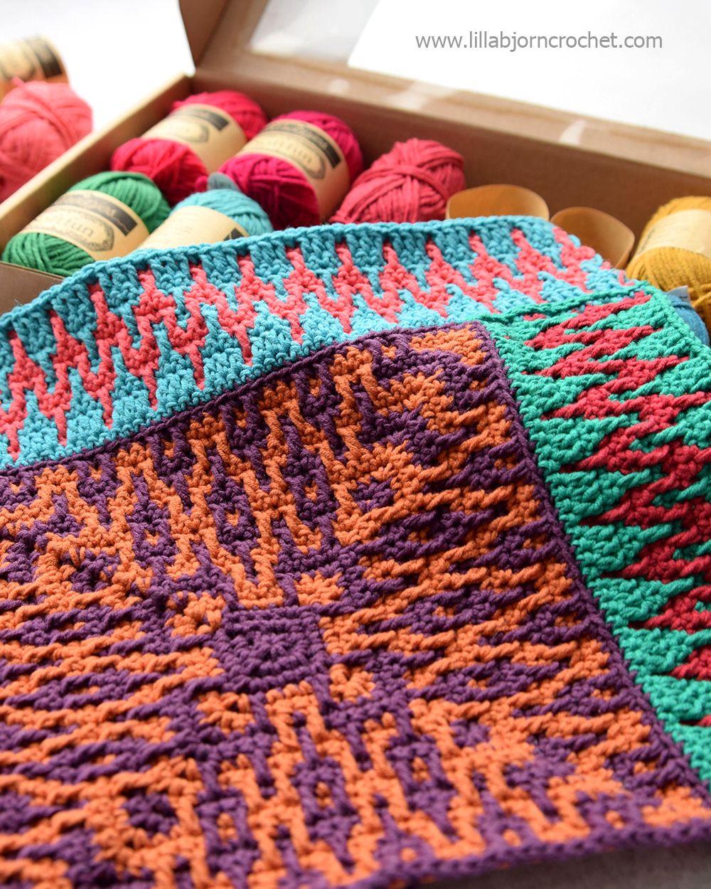 Mosaic crochet square