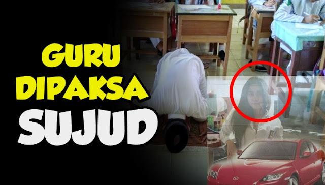 Guru Dipaksa Sujud Minta Maaf di Depan Wali Murid Bermobil Mewah