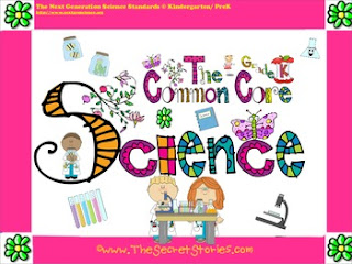 FREE PreK./Kindergarten Common Core Science Posters