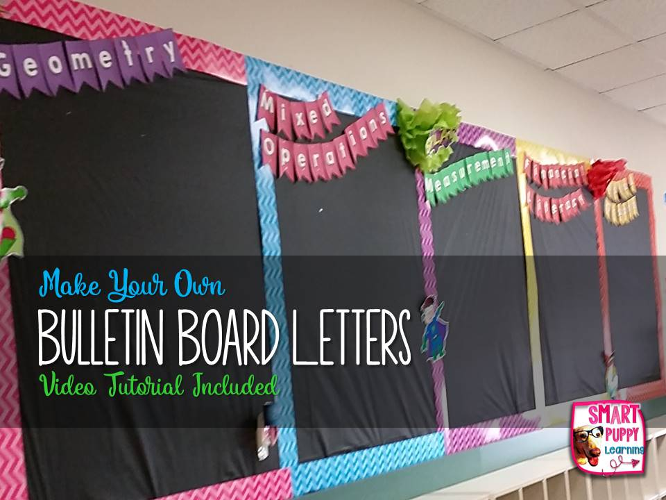 Making Bulletin Board Bunting Letters Resource To Desk