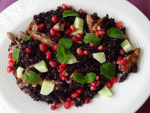 Black rice salad