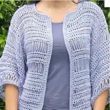 Chaqueta Kimono a Crochet
