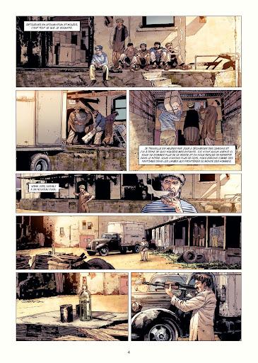 """page de """"LE GARDE DU CORPS DE MASSOUD"""" de Jean-Pierre Pécau et Renato Arlem chez Delcourt"""
