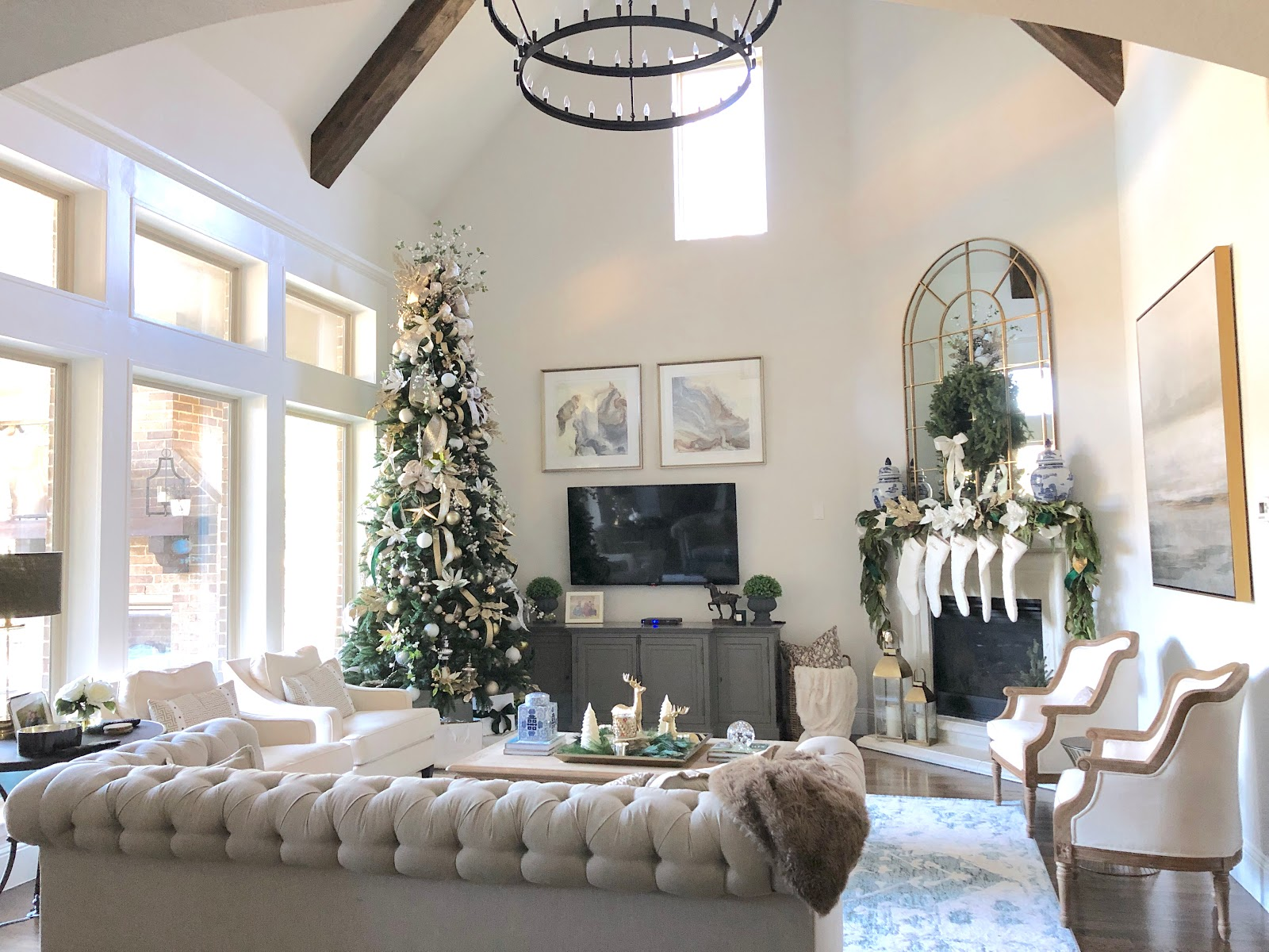 Clic Style Home: Green, Ivory and Gold Christmas Tree on green and purple plant, strawberry begonia plant, green with yellow flowers ground cover, coprosma mirror plant, hardy banana plant, black and gold plant, foam flower plant, twin leaf plant, malawi gold plant, green leafy plants, eastern smooth beardtongue plant, fly poison plant, coprosma marble queen plant, green cordyline plants, coleonema sunset gold plant, green and white grass plant, green plants with flowers, sundrops plant, florida gold plant, emerald and gold plant,