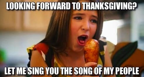 hilarious thanksgiving meme